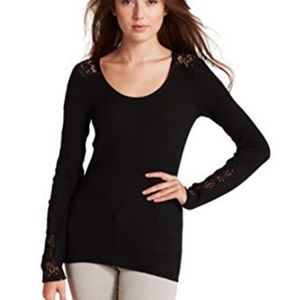 Lucky Brand l Black Inset Lace Thermal